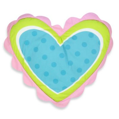 """Patchwork """"Heart"""" Toss Pillow"""