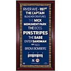 Steiner MLB New York Yankees Framed Wall Art 16-Inch x 32-Inch Subway Sign