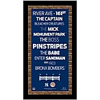 Steiner MLB New York Yankees Framed Wall Art 9.5-Inch x 19-Inch Subway Sign