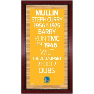 Steiner NBA Golden State Warriors Framed 16-Inch x 32-Inch Wall Art Subway Sign