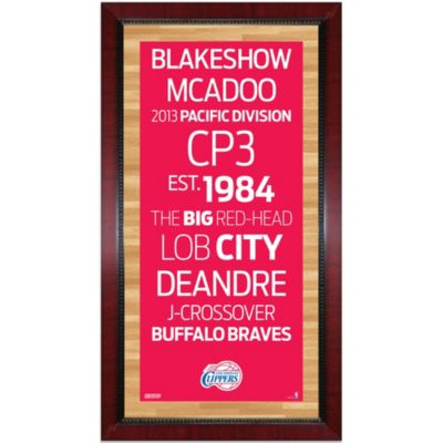 Steiner Los Angeles Clippers 16-Inch x 32-Inch Framed Art
