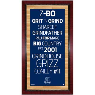Steiner Memphis Grizzlies 16-Inch x 32-Inch Framed Art