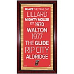 Steiner NBA Portland Trail Blazers Framed 16-Inch x 32-Inch Wall Art Subway Sign