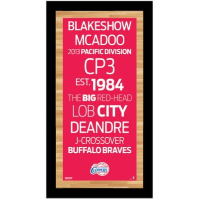 Steiner Los Angeles Clippers 9-1/2-Inch x 19-Inch Framed Art