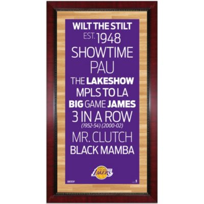 Steiner NBA Los Angeles Lakers Framed Wall Art 9.5-Inch x 19-Inch Subway Sign