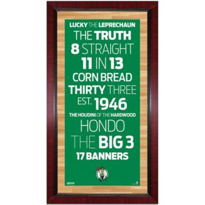 Steiner Boston Celtics 16-Inch x 32-Inch Framed Art