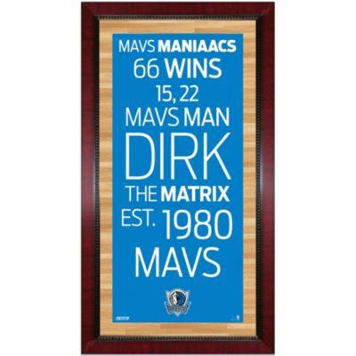 Steiner NBA Dallas Mavericks Framed Wall Art 16-Inch x 32-Inch Subway Sign
