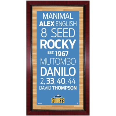 Steiner MLB Denver Nuggets Framed Wall Art 16-Inch x 32-Inch Subway Sign