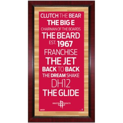 Steiner NBA Houston Rockets Framed 16-Inch x 32-Inch Wall Art Subway Sign