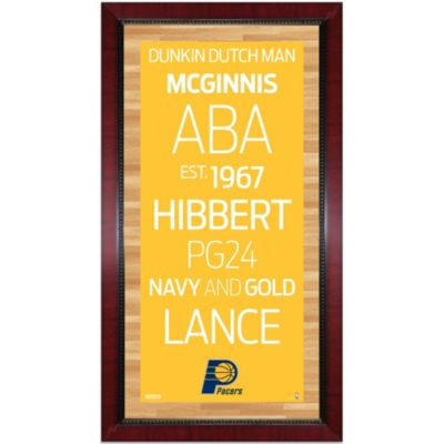Steiner NBA Indiana Pacers Framed Wall Art 16-Inch x 32-Inch Subway Sign
