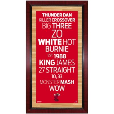 Steiner Miami Heat 16-Inch x 32-Inch Framed Art