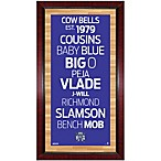 Steiner NBA Sacramento Kings Framed Wall Art 16-Inch x 32-Inch Subway Sign