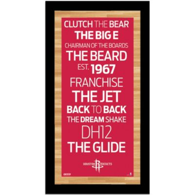 Steiner NBA Houston Rockets Framed 9.5-Inch x 19-Inch Wall Art Subway Sign
