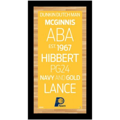 Steiner MLB Indiana Pacers Framed Wall Art 9.5-Inch x 19-Inch Subway Sign