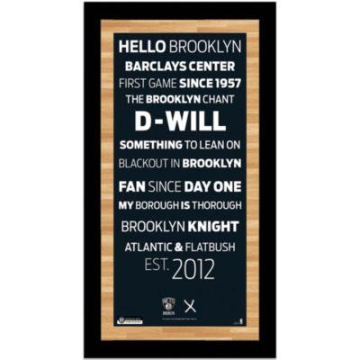 Steiner MLB Brooklyn Nets Framed Wall Art 9.5-Inch x 19-Inch Subway Sign