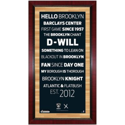 Steiner MLB Brooklyn Nets Framed Wall Art 16-Inch x 32-Inch Subway Sign