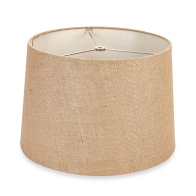 Mix & Match Medium 15-Inch Burlap Drum Lamp Shade in Tan