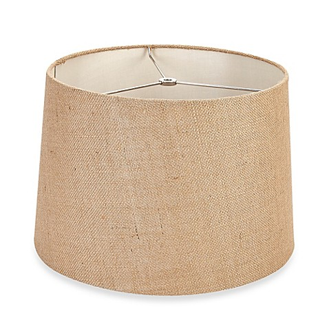 mix match medium 15 inch burlap drum lamp shade in tan. Black Bedroom Furniture Sets. Home Design Ideas