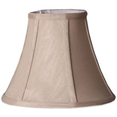 Mix & Match Small 10-Inch Shantung Bell Lamp Shade in Taupe