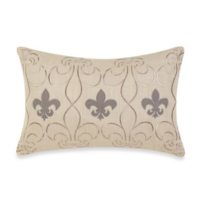 Fleur De Lis Oblong Throw Pillow