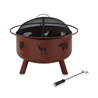 Crosley Durango Wildlife Fire Pit in Clay