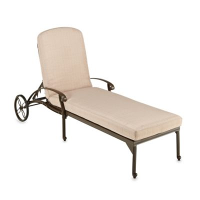 Home Styles Floral Blossom Chaise Lounge in Taupe