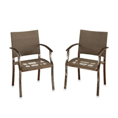 Home Styles Urban Outdoor Arm Chair Pair