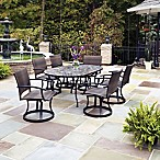 Home Styles Stone Harbor 7-Piece Outdoor Dining Set with Newport Swivel Chairs