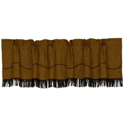 HiEnd Accents Barbwire Fringed Window Valance