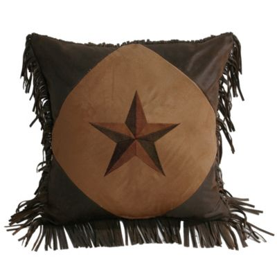Laredo Diamond Star Throw Pillow in Tan
