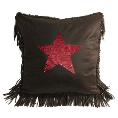HiEnd Accents Cheyenne Star Throw Pillow in Red