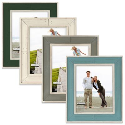 Malden® Coastal Collection 8-Inch x 10-Inch Weathered Picture Frame in Hunter Green
