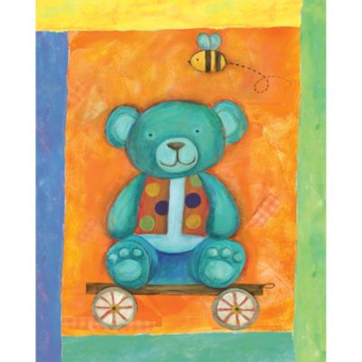 12-Inch x 12-Inch Motif Teddy Bear Wall Art