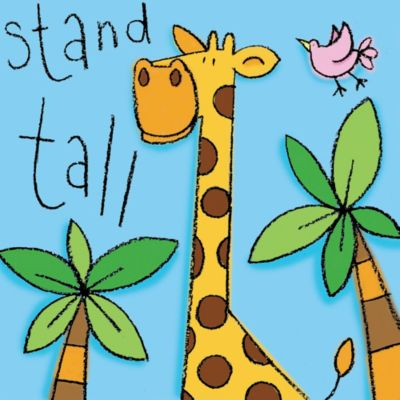 "12-Inch x 12-Inch ""Stand Tall"" Wall Art"