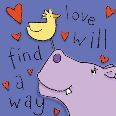 "12-Inch x 12-Inch ""Love Will Find a Way"" Wall Art"