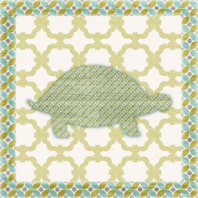 12-Inch x 12-Inch Sweet Pattern Turtle Wall Art