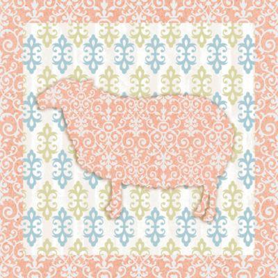 12-Inch x 12-Inch Sweet Pattern Sheep Wall Art