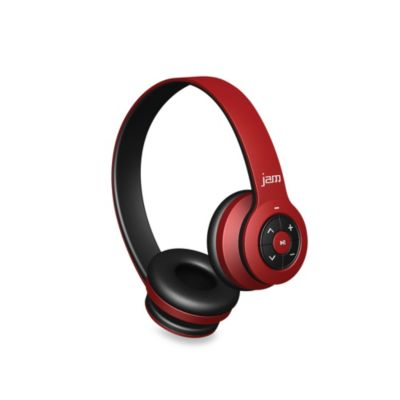 JAM® Transit Bluetooth® Wireless Headphones in Red