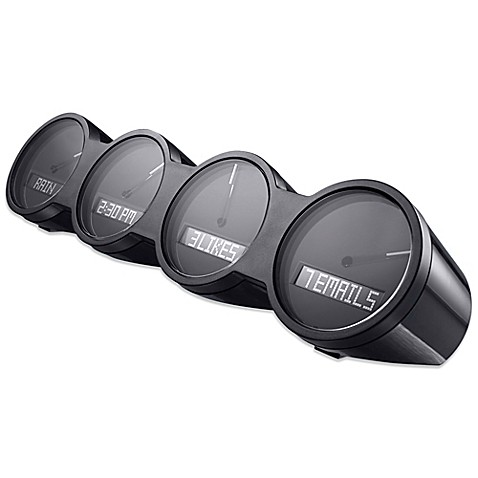 Quirky® Nimbus Alarm Clock in Black