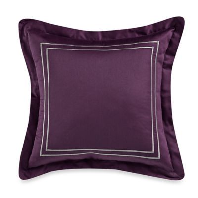 Wamsutta® Baratta Stitch 18-Inch Square Toss Pillow in Purple
