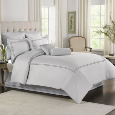 Wamsutta® Baratta Stitch Twin Comforter Set in Oyster