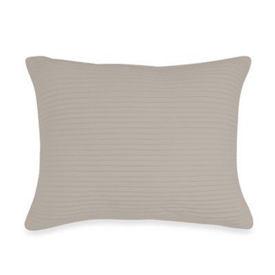Wamsutta® Baratta Stitch Oblong Throw Pillow in Oyster