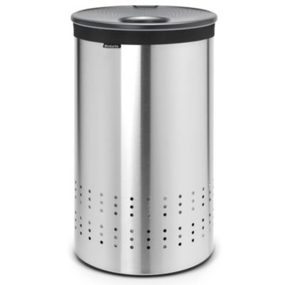 Laundry Hamper Bin in Matte Steel