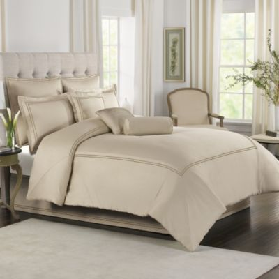 Baratta Stitch European Pillow Sham in Taupe