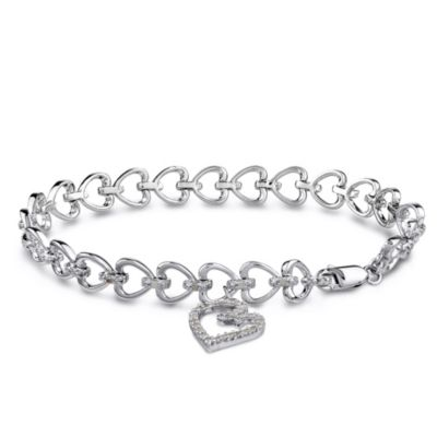 Sterling Silver Bracelet with 1/2 cttw White Diamonds