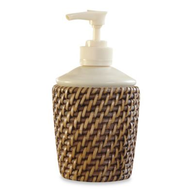Avalon Wicker Lotion Dispenser