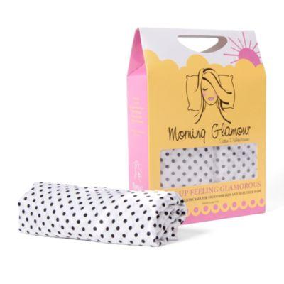 Morning Glamour® Satin Standard Pillowcases in Black/White (Set of 2)