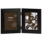 Prinz Soho 2.5-Inch x 3.5-Inch Hinged 2-Picture Collage Frame in Black
