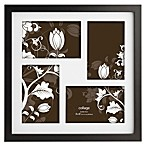 Prinz Soho 4-Inch x 6-Inch Matted 4-Picture Collage Frame in Black