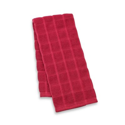 Kitchensmart® 18-Inch x 28-Inch Solid Kitchen Towel in Ming Red